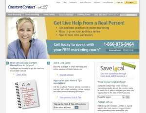 ConstantContact.com Email Newsletter Software home page full size image