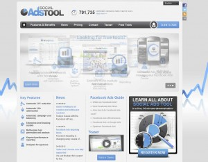 SocialAdsTool.com FB Ads Management Software home page full size image