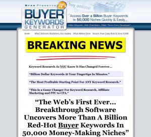 BuyerKeywordsGenerator.com Adwords Keyword Software full-size homepage image