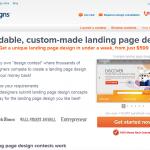 99Designs Landing Page Design thumbnail image