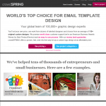 crowdSPRING Email Template Design thumbnail image